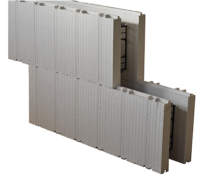 ICF Blocks stack together like Legos with the patented interlock design