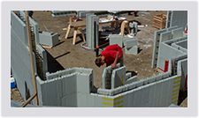 Advantage ICF blocks help you construct any number of corners and angles