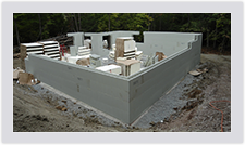 Advantage ICF Blocks make your foundation installation quick and easy