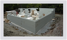 The lightweight nature of the Advantage ICF blocks allow for speedy installation and easy handling