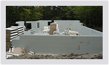 Advantage ICF Blocks snap together using the patented interlock technology for straight, strong walls