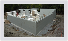 Advantage ICF foundations are easy to assemble