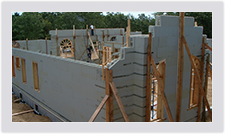 Advantage ICF blocks can be used for walls all the way to the roofline