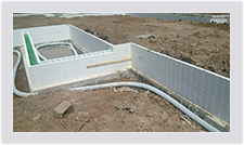 Advantage ICF blocks allow you to create steps in your foundation