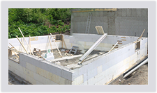 Advantage ICF blocks assemble quickly and easily to provide an insulated foundation