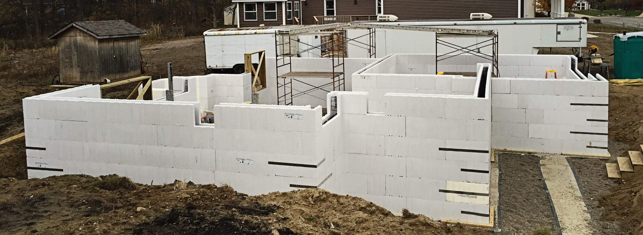 The Advantage ICF System are easy to assemble and quick to install.