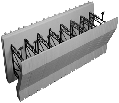 "8"" Brick ledge  Advantage ICF Block"