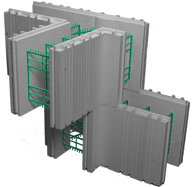 "8""  Advantage ICF T-Block"